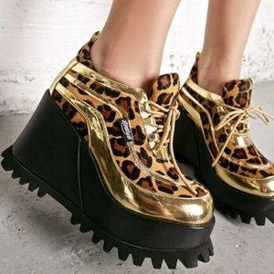 Shellys London Platform Shoes Ritchie Cheetah Punk